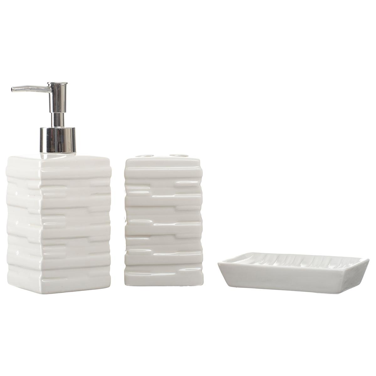 Kit Banheiro Conjunto Lavabo Porta Sabonete Líquido Br334