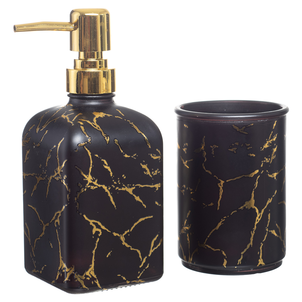 Kit Banheiro Lavabo Dispenser Sabonete Líquido 2 Peças / 345