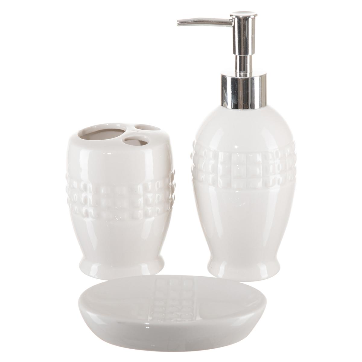 Kit Banheiro Lavabo Dispenser Sabonete Líquido 3 Peças / 054