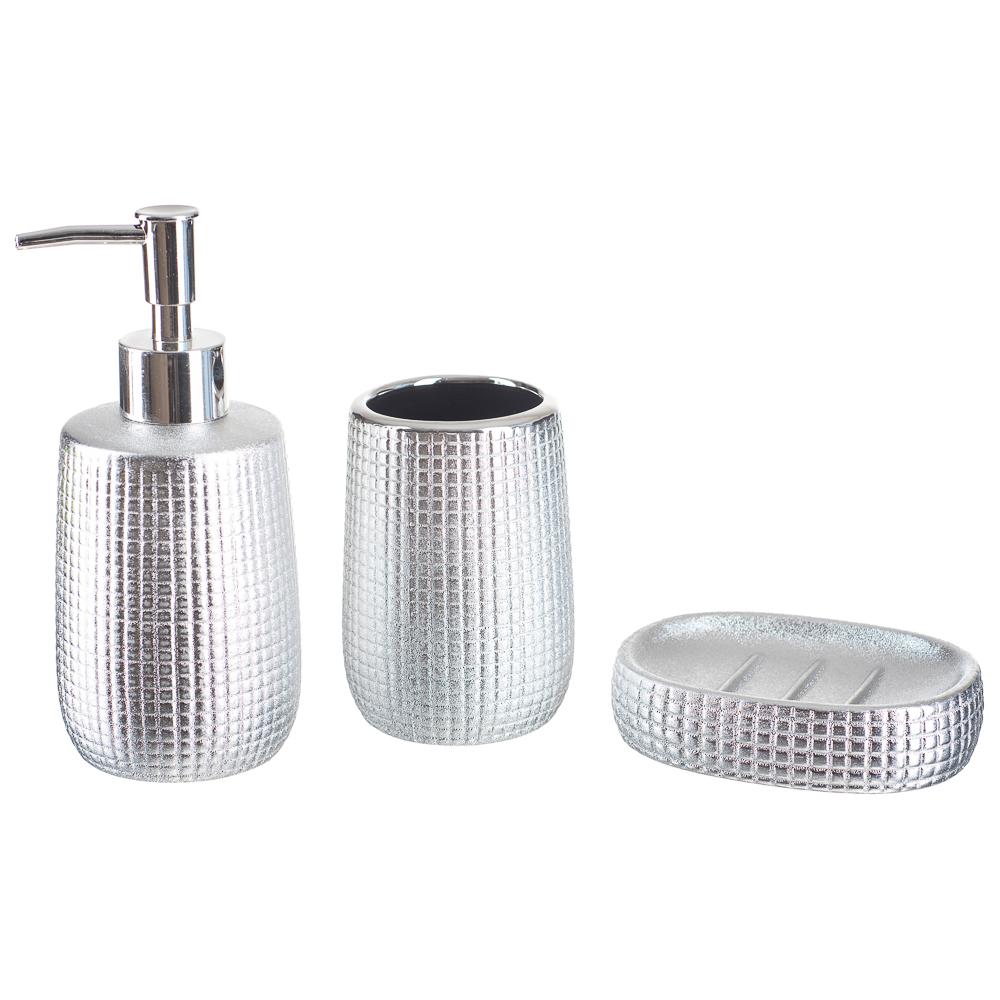 Kit Banheiro Lavabo Dispenser Sabonete Líquido Gel / 165