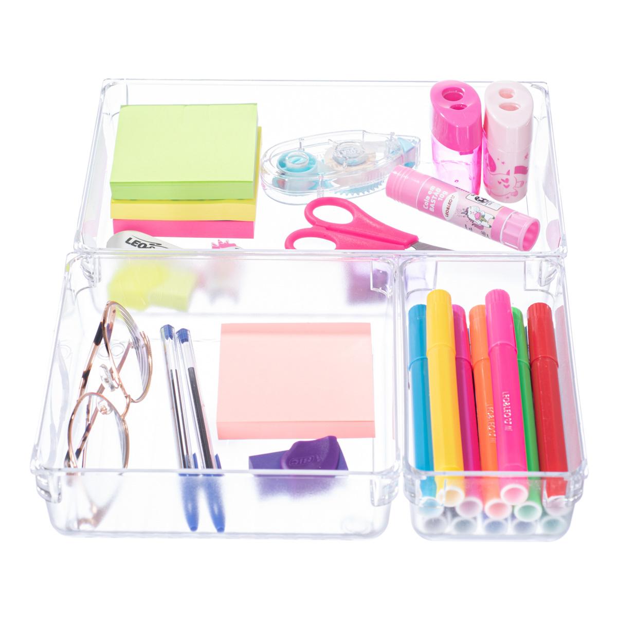 Organizador De Gaveta Escritório Porta Maquiagem Lápis Mod: 002
