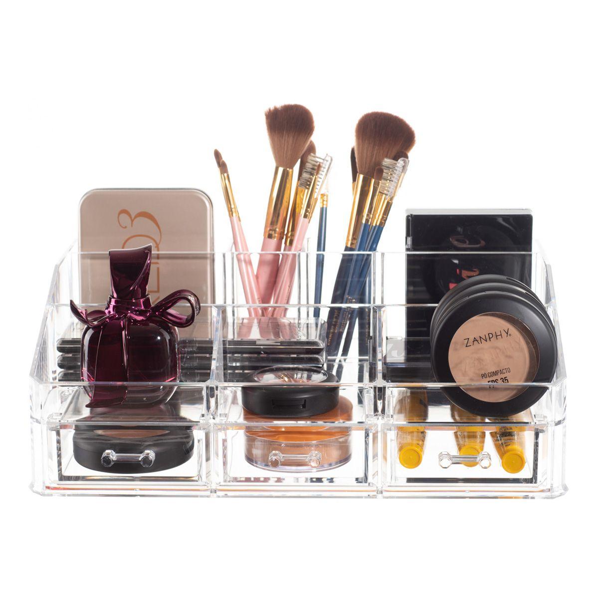 Organizador de Maquiagem 3 Gavetas