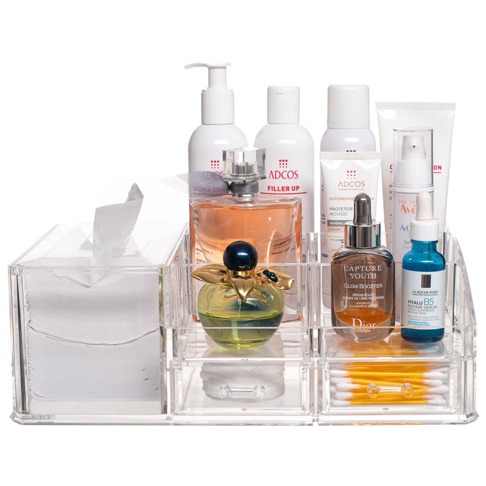 Organizador Para Cosméticos Maquiagem Skin Care Limpeza Pele