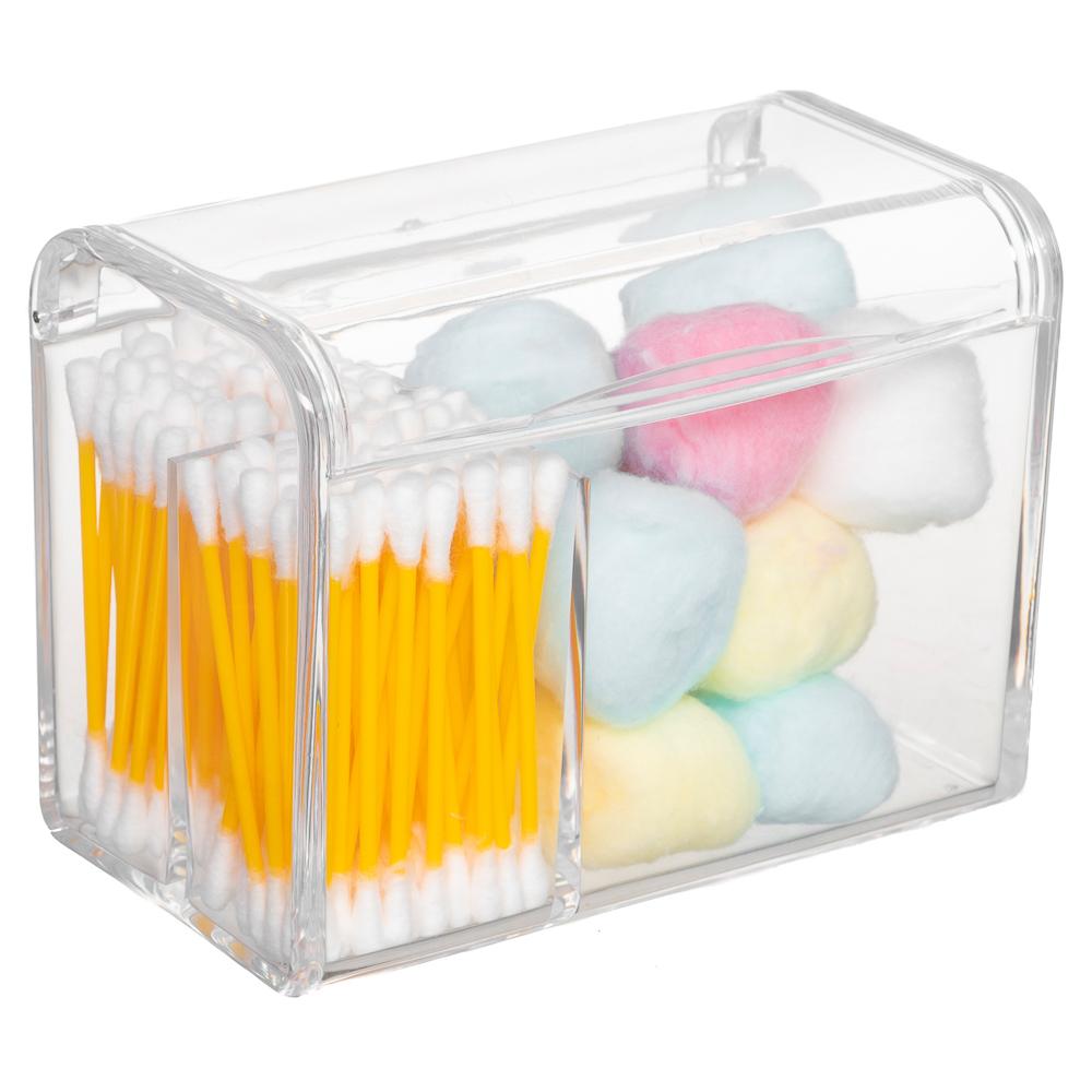 Porta Algodão Cotonete Organizador Em Acrílico P/ Banheiro PAL-528