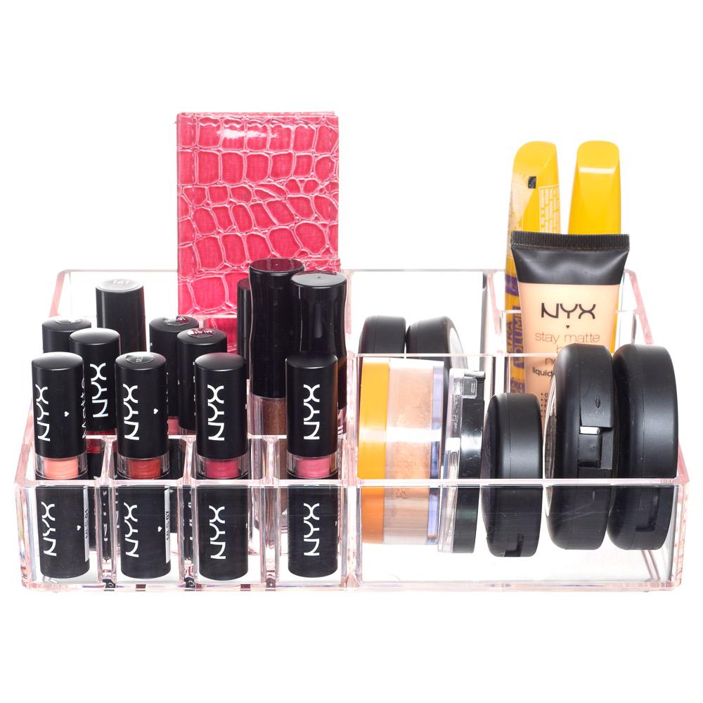 Porta Maquiagem, Batom, Acessórios Organizador Acrílico Rosa