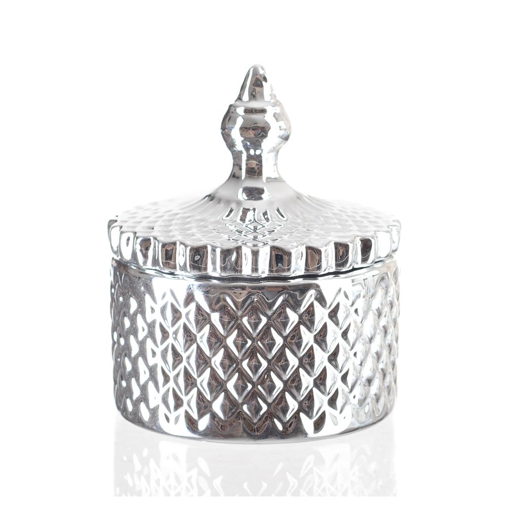 Pota Jóias Enfeite Decorativo Potiche Em Cerâmica Espelhado