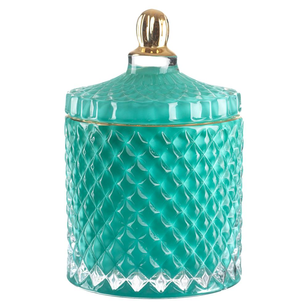 Potiche De Vidro Decorativo P/ Banheiro Porta Algodão Joias / PTC-404