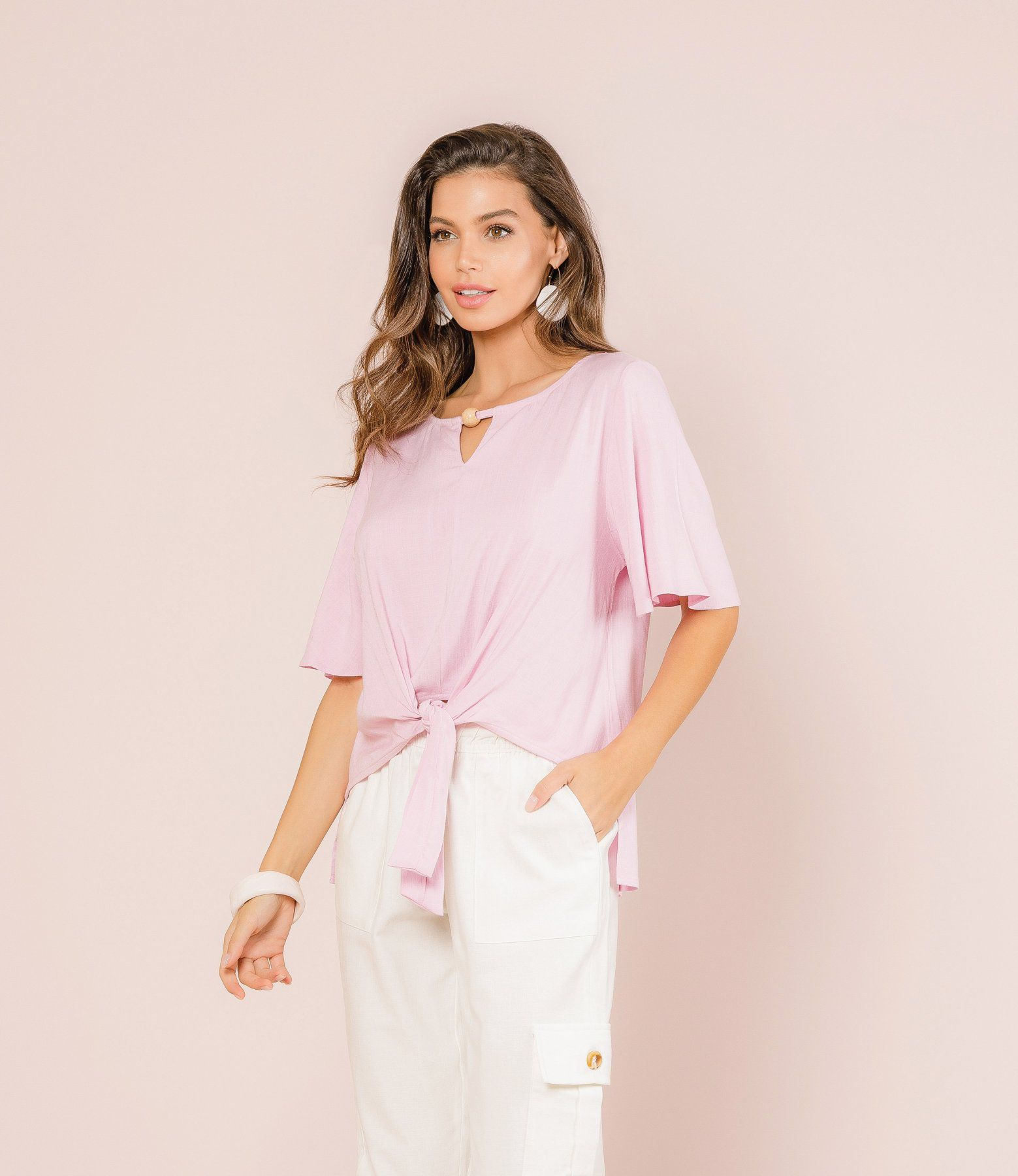 Blusa Linen Look