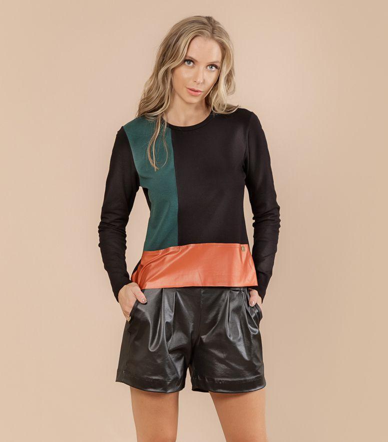Blusão Sport Fleece Recortes