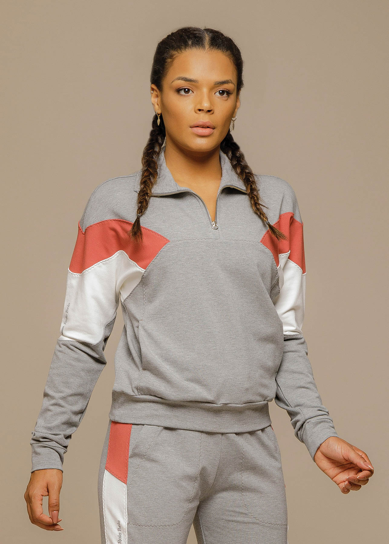 Blusão Sport Fleece Tricolor