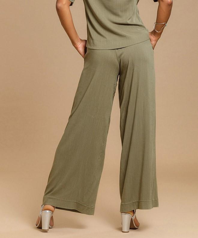Calça Pantalona Linho Leve