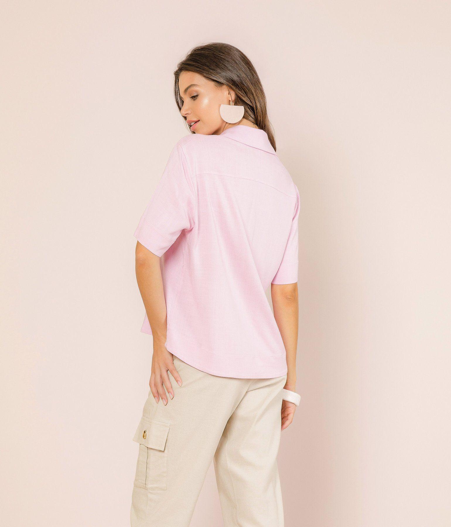 Camisa Linen Look
