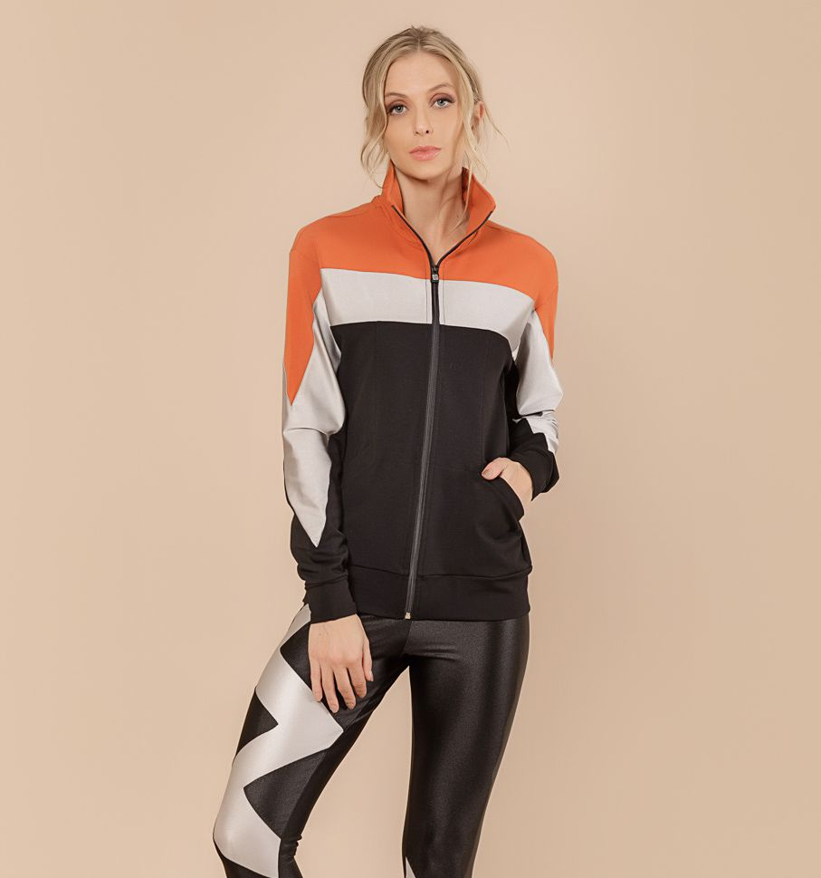 Jaqueta Sport Fleece Bloco
