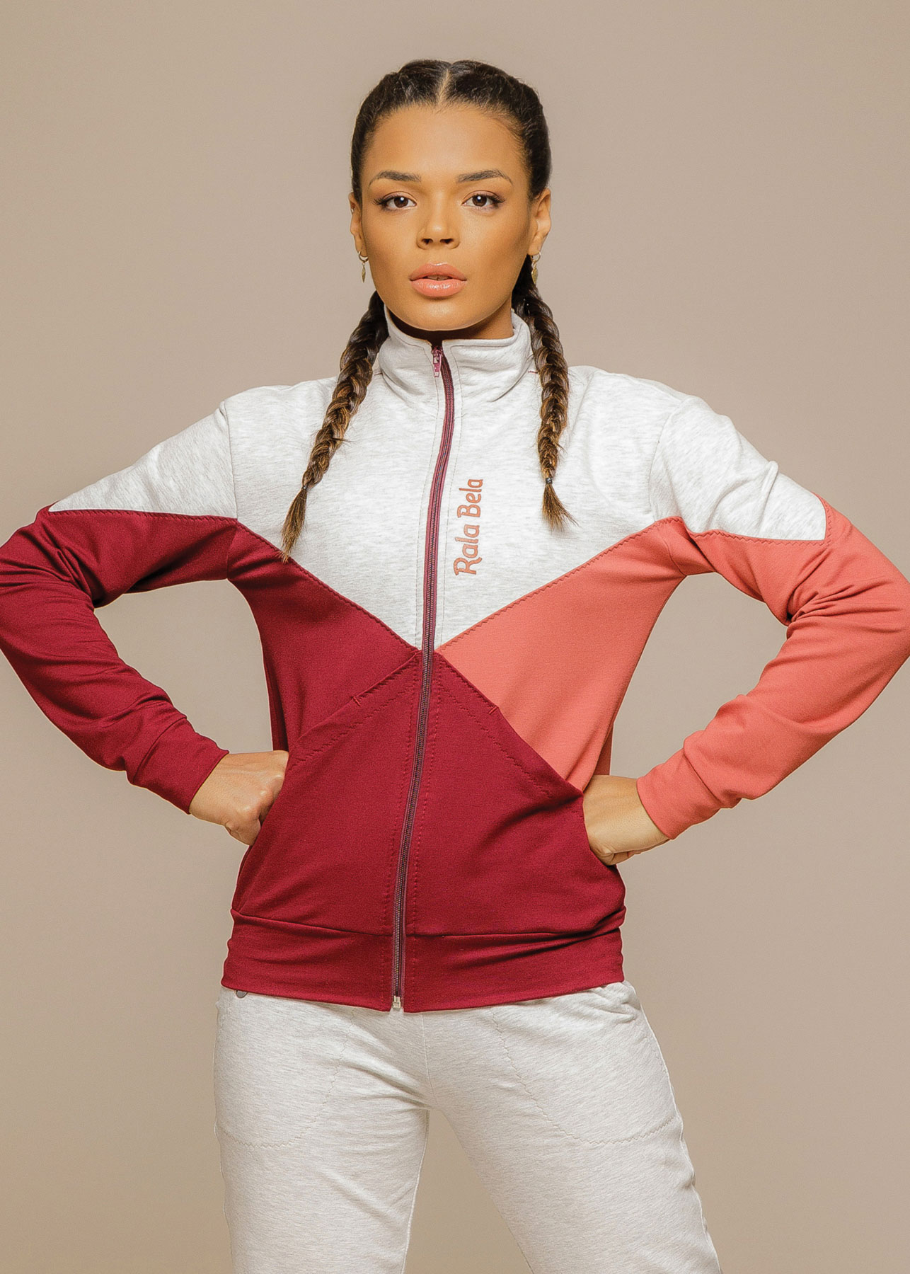 Jaqueta Sport Fleece Tricolor