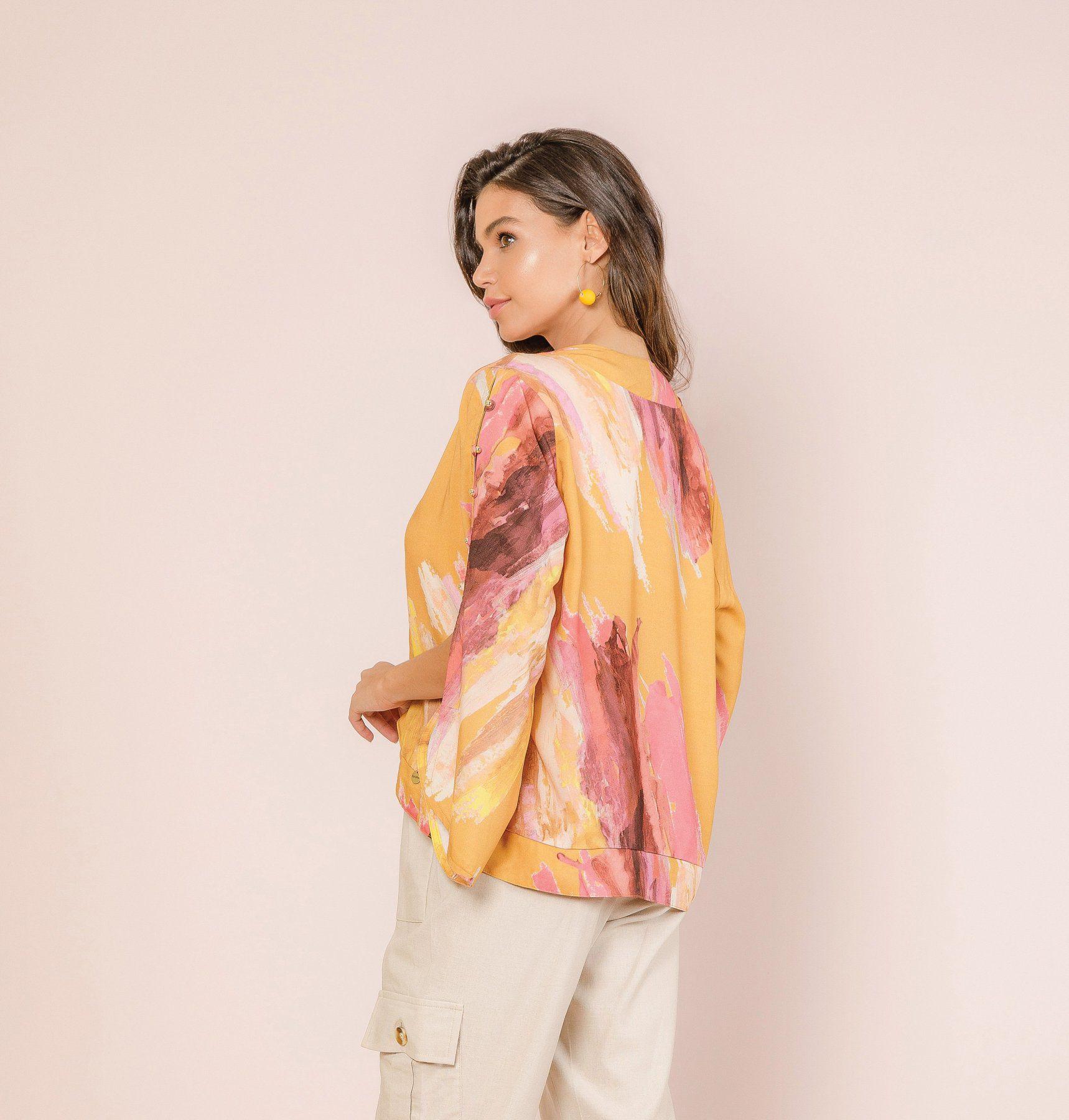 Kimono Viscose Estampada