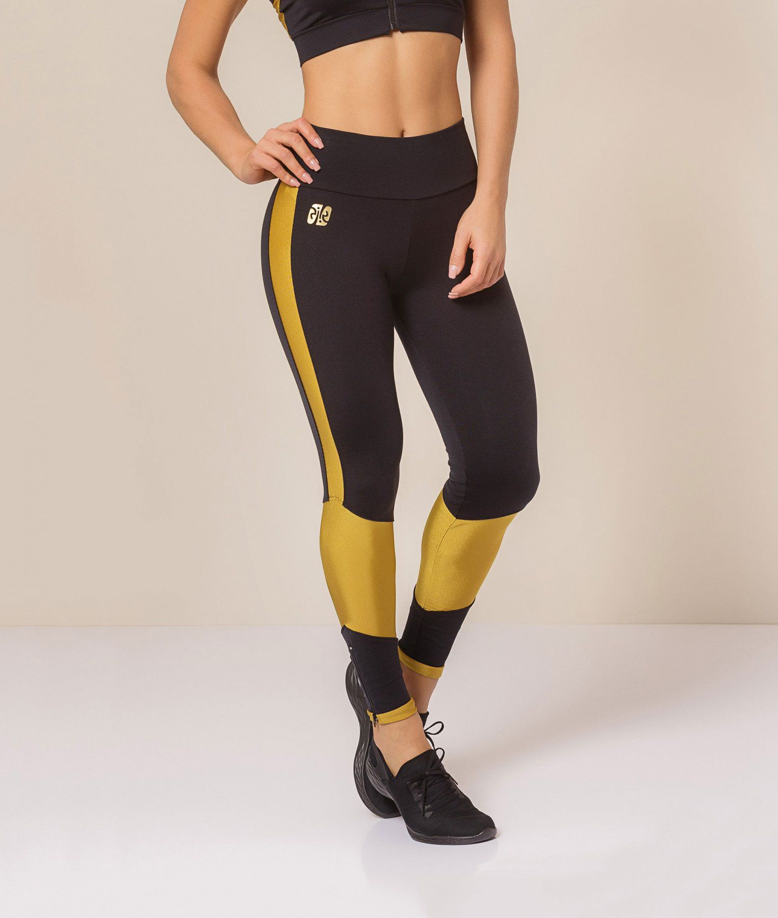Legging Supplex com Zíper