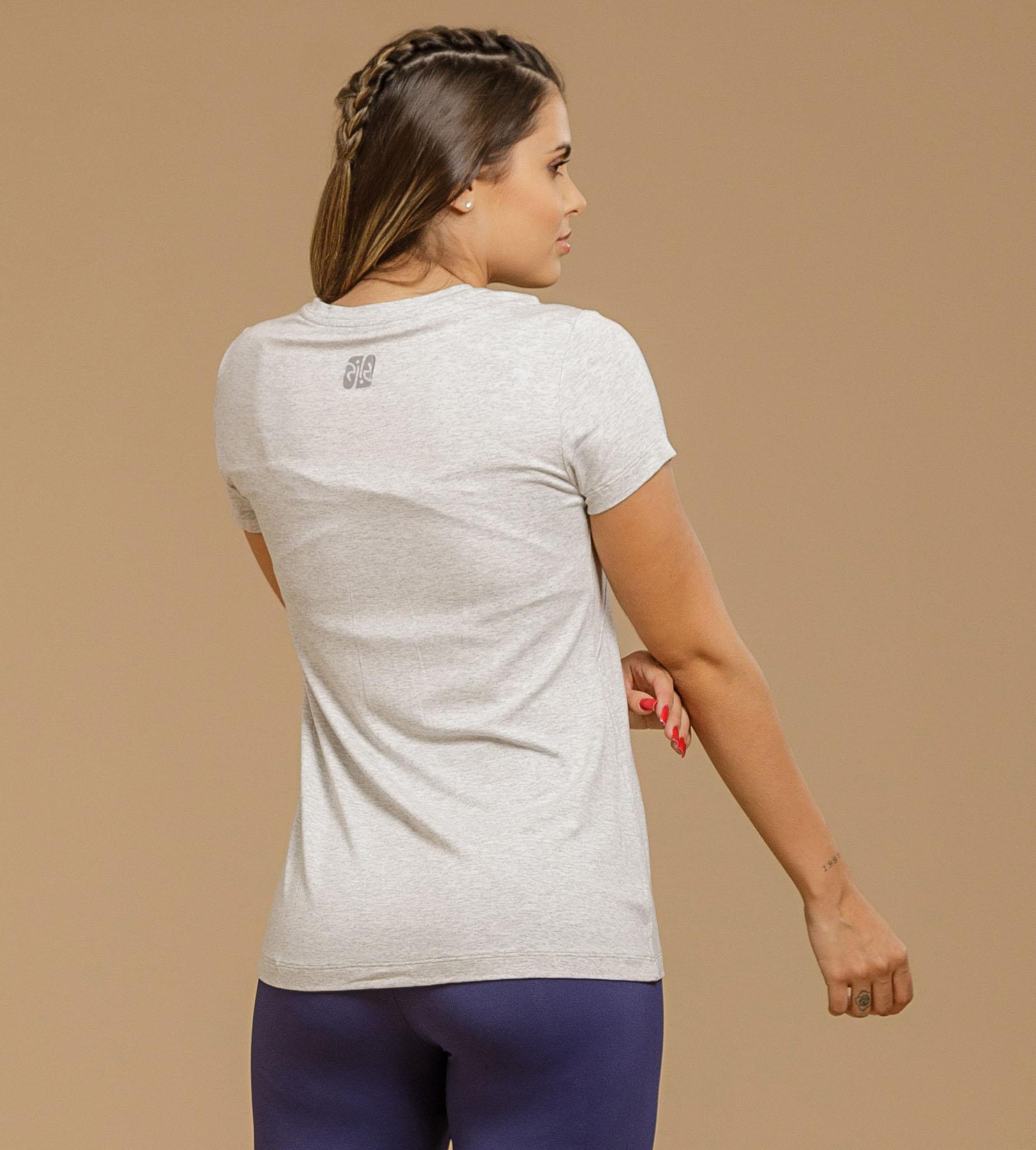 T-shirt Viscolycra Abertura Ombro