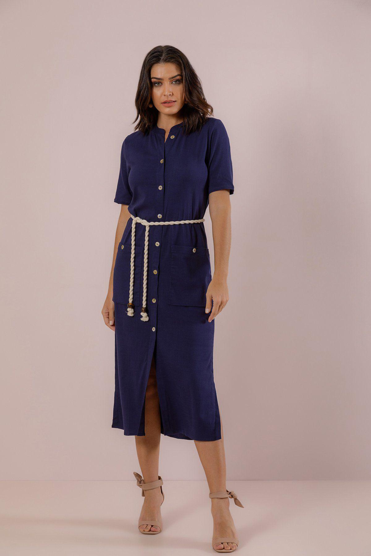Vestido Camisa Linen