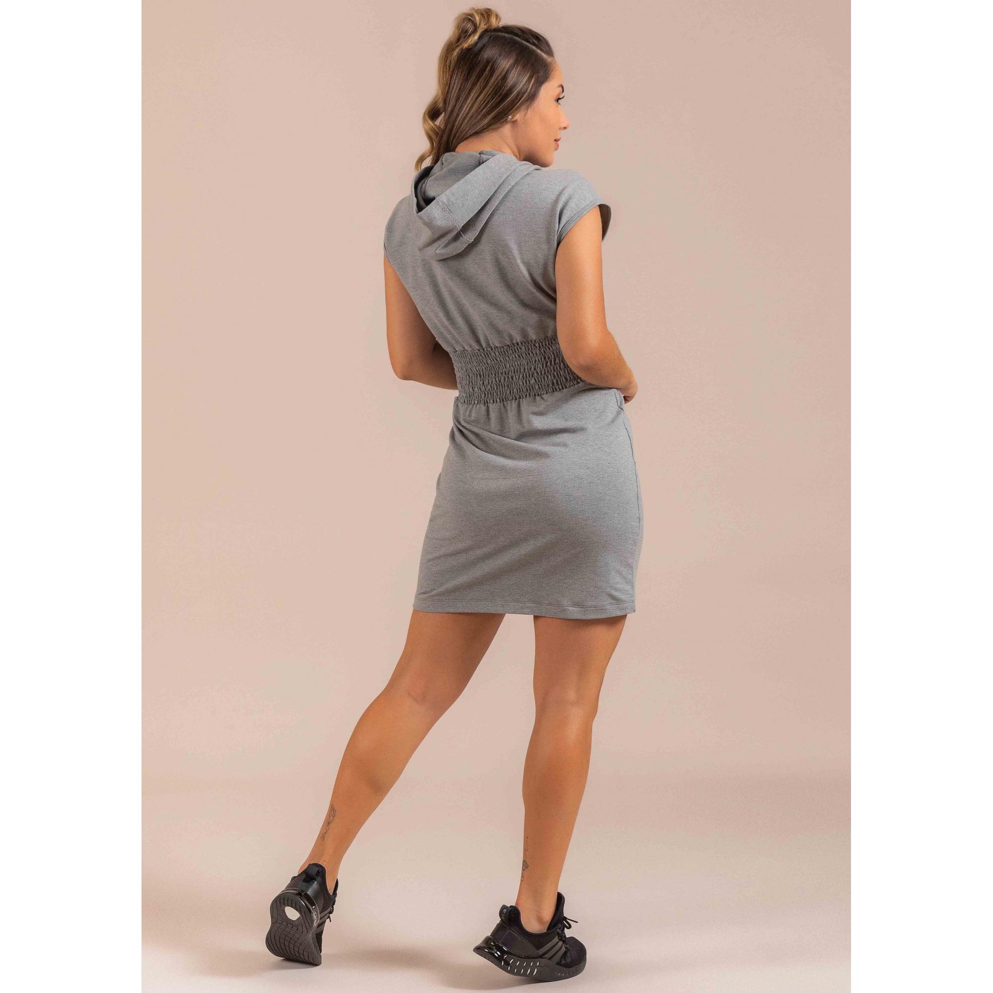 Vestido Sport Fleece E Silk
