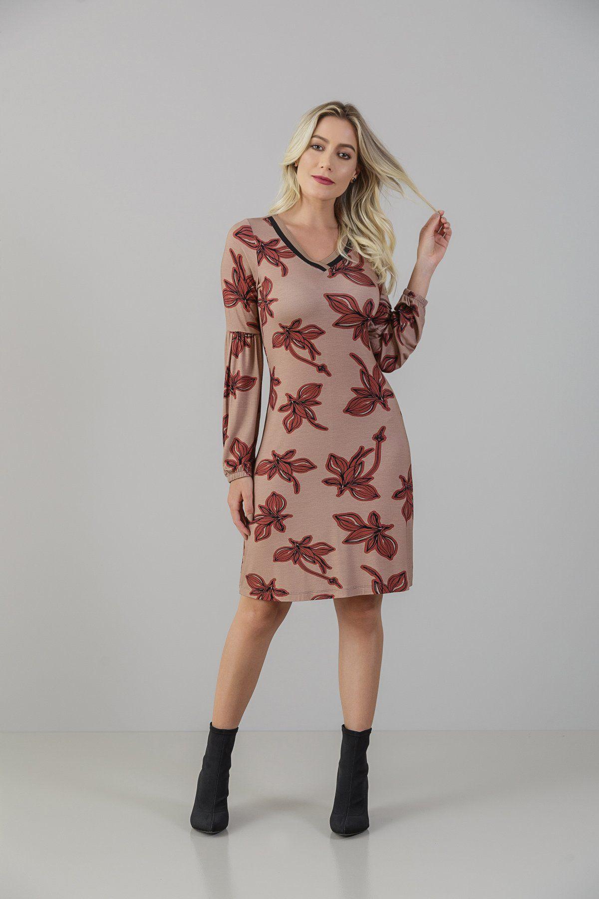 Vestido Visco-Lycra Estampado