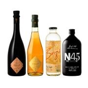 Combo Especial  N45 Negroni, Aureah Vermute Rossa e Aureah Vermute Rosé e Destilado Botânico Brizê