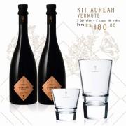 Compre 2 garrafas de Aureah Vermute 750ml e Ganhe 2 copos de vidro