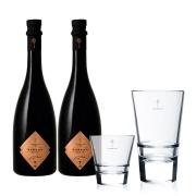 2 garrafas de Aureah Vermute Rossa 750ml e Ganhe 2 copos de vidro