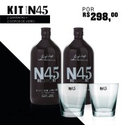 Compre 2 Garrafas de N45 Negroni 1000ml e Ganhe 2 copos de vidro