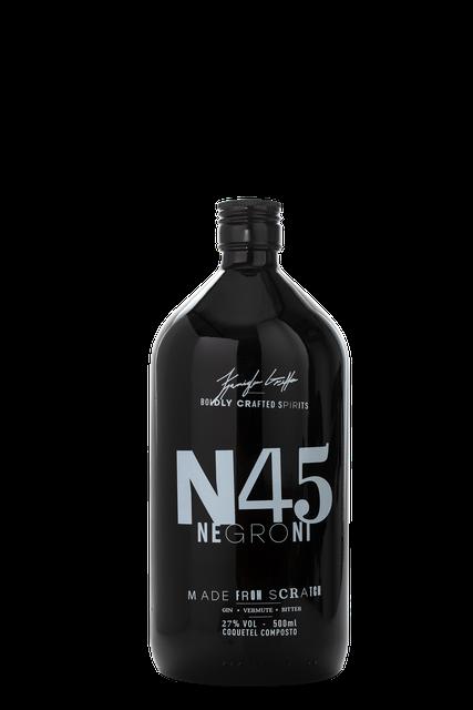 N45 NEGRONI  1000 ML - COMBO 2 UNIDADES ( PAGUE 2 GARRAFAS E LEVE 2 TAÇAS )