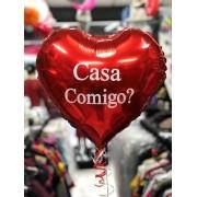 Balão Coração Personalizado com gás (sob encomenda)