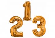 Balão de Número Dourado - 35cm