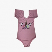 Body Collant Unicórnio Infantil