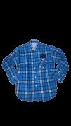 Camisa Caipira Infantil - Flanela Azul