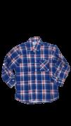 Camisa Caipira Infantil - Flanela listras Vermelhas e Azuis