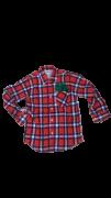 Camisa Caipira Infantil - Flanela Vermelha/Branca