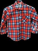 Camisa Caipira Infantil - Flanela Vermelha