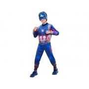 Fantasia Capitão América Infantil - Músculos