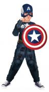 Fantasia Capitão América Músculos Infantil