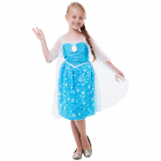 Fantasia Frozen Elsa Infantil com Luz e Som