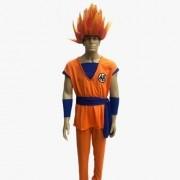 Fantasia Goku Adulto com Peruca Saiyajin