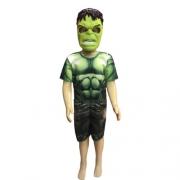 Fantasia Hulk Infantil - Curto