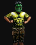 Fantasia Incrível Hulk Infantil Curto