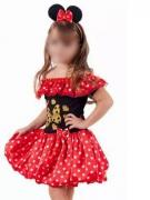 Fantasia Minnie Infantil Luxo