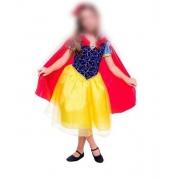 Fantasia Princesa Branca de Neve Luxo Infantil