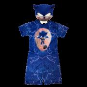 Fantasia Sonic Infantil - Curto