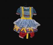 Vestido Caipira Infantil Feminino Vermelho/Amarelo/Azul
