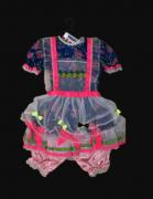 Vestido Caipira Rosa /Abacaxi Infantil Feminino