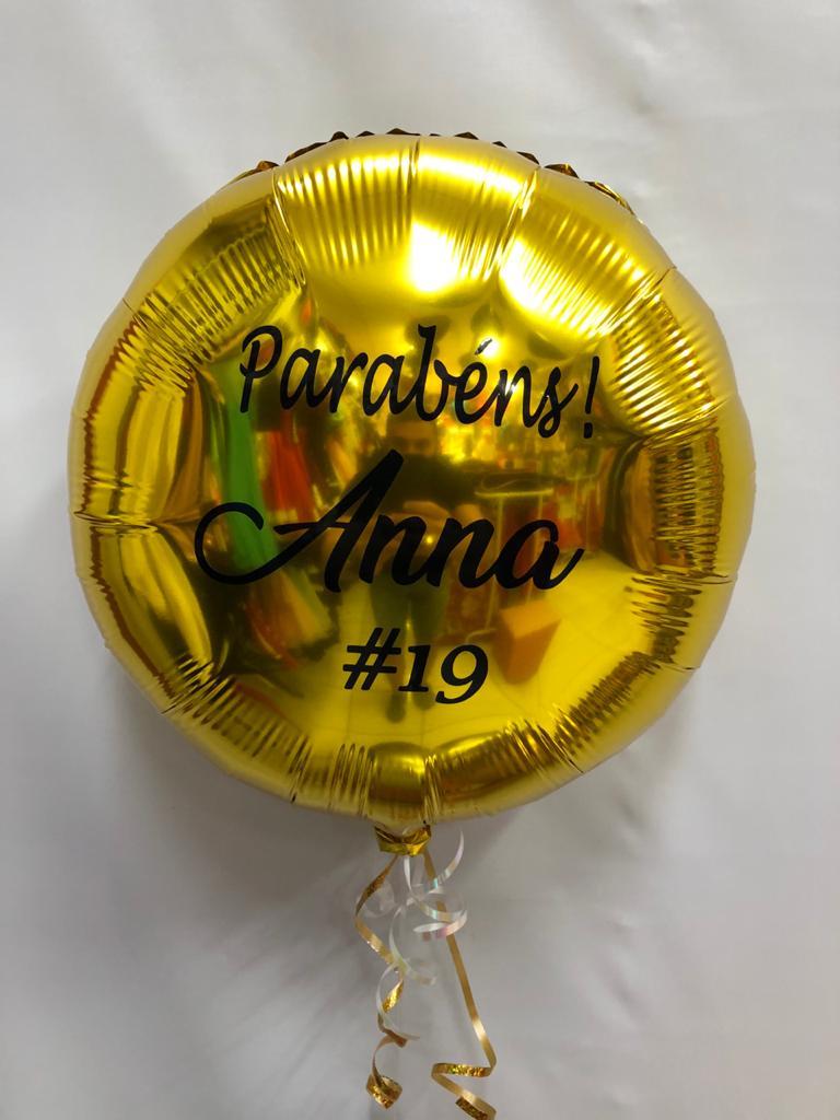 Balão Redondo Personalizado com gás (sob encomenda)