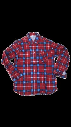 Camisa Caipira Infantil - Flanela Vermelha/Azul