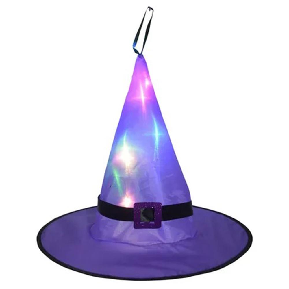 Chapéu Bruxa com Luz LED
